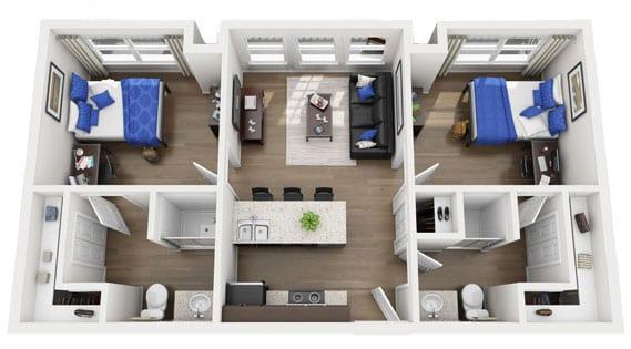 Student Apartment Floor Plans The Ridge Clemson
